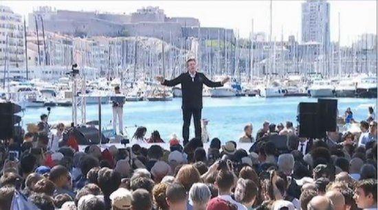 Campagne présidentielle: Jean-Luc Mélenchon en meeting à Marseille