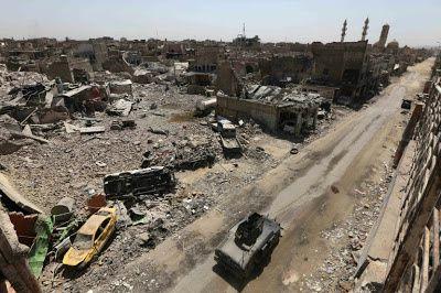 La vieille ville de Mossoul dévastée (afp)