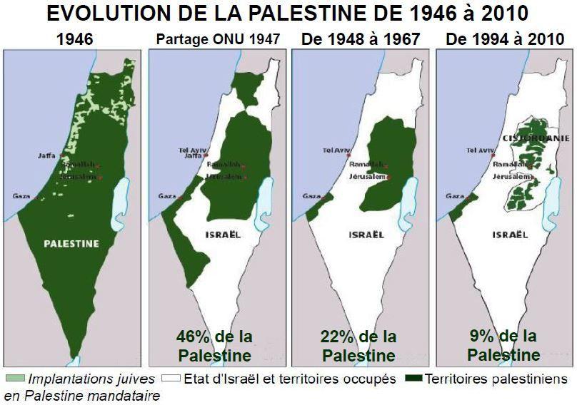 Carte Du Partage De Linde En 1947.Palestine Le Partage De 1947 Une Iniquite France