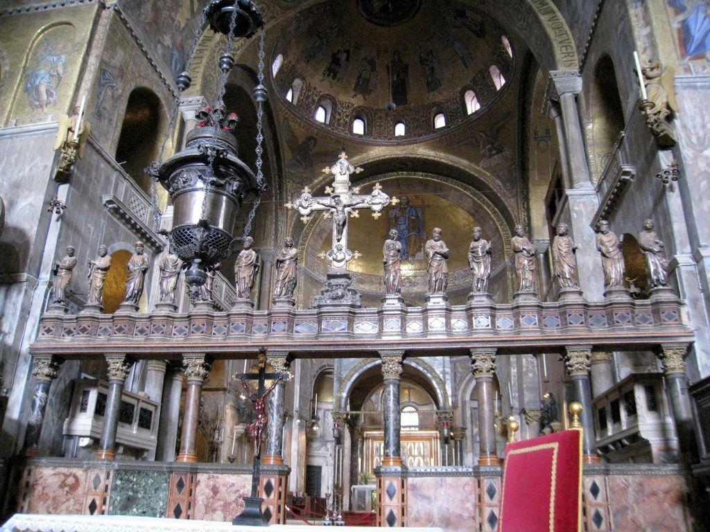 L'iconostase de la basilique St Marc à Venise
