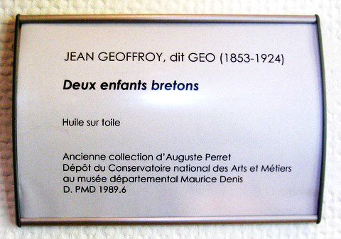Jean Geoffroy (dit Géo), deux enfants bretons