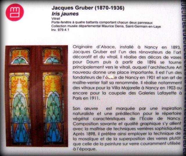 Jacques Grüber, iris jaunes