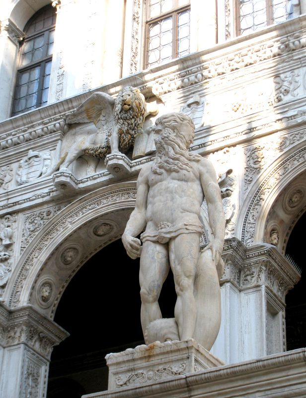 L'escalier des Géants, palais des Doges à Venise