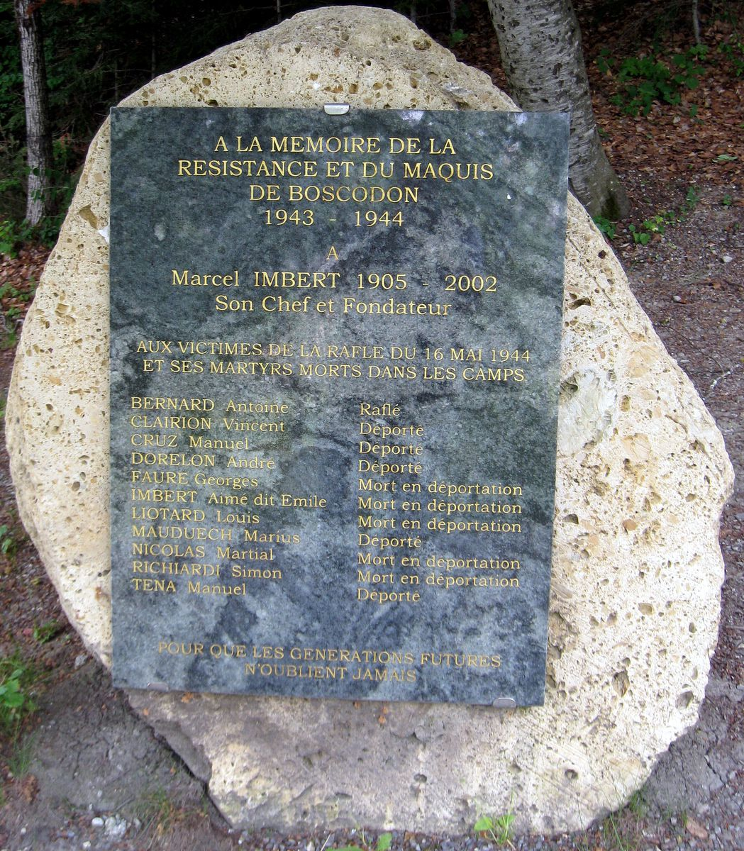A la mémoire de le résistance et du maquis de Boscodon