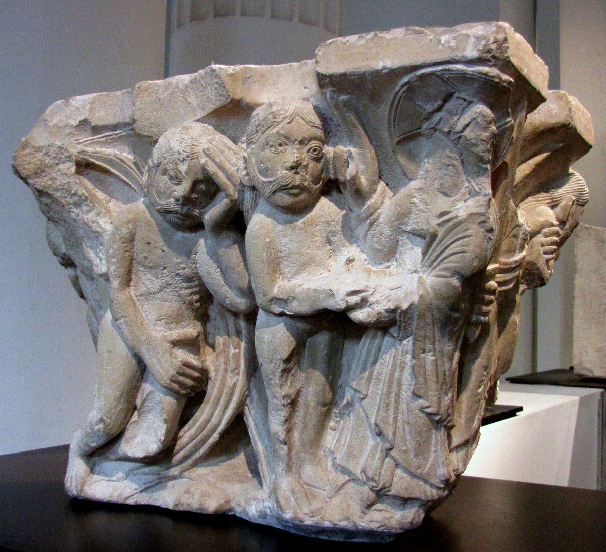 Chapiteau d'Adam et Eve, musée de Picardie