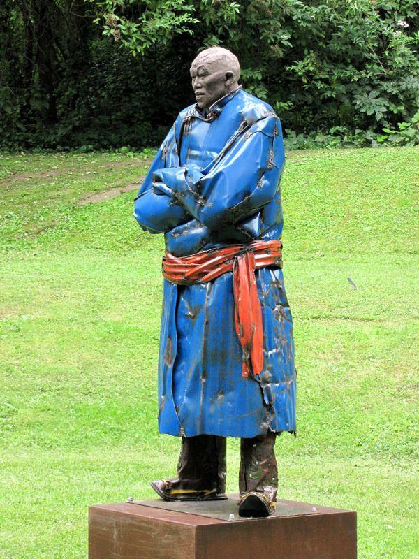 Lutteur, sculpture d'Emmanuel Michel