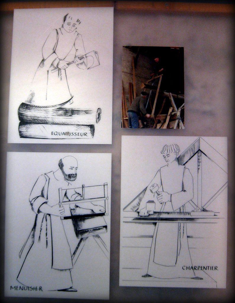 Outils pour travailler le bois (12), abbaye de Boscodon  Le blog de  ~ Outils Pour Travailler Le Bois