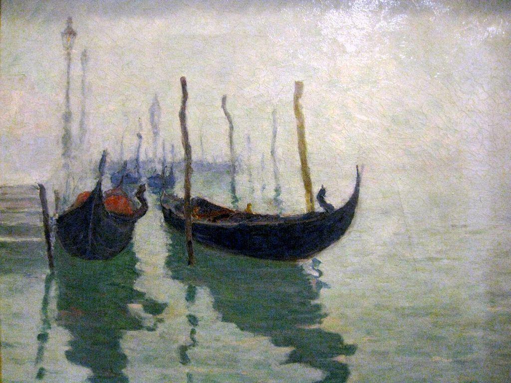 André Gouirand, gondoles à Venise