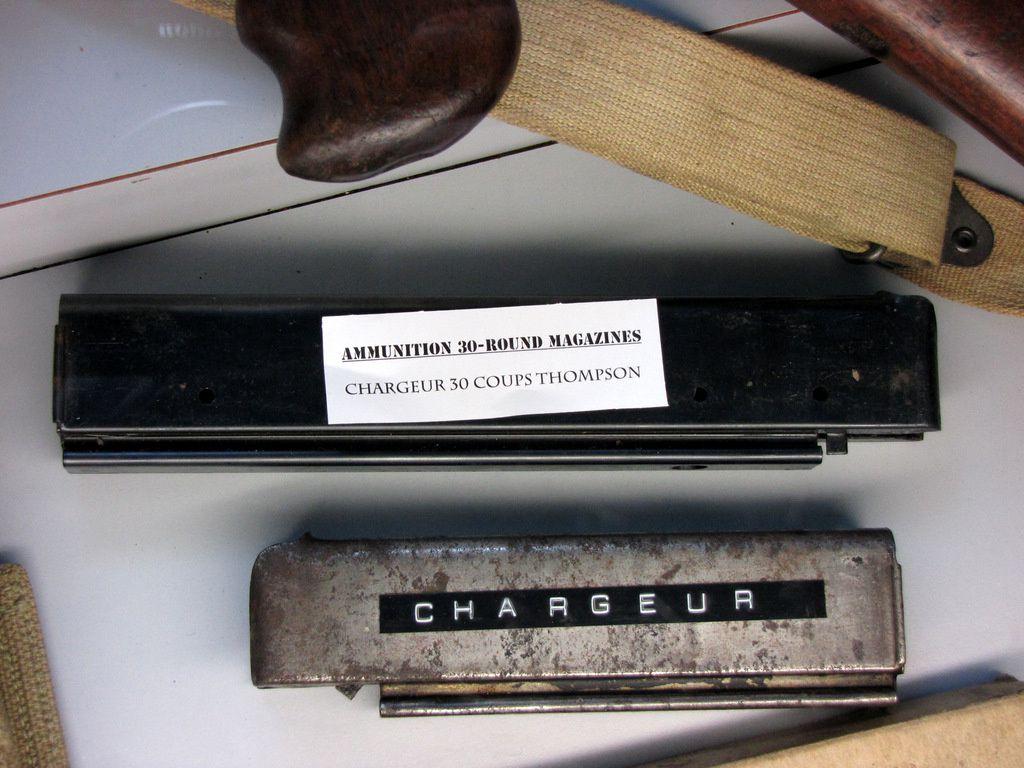 Pistolet mitrailleur Thompson M1A1, musée Airborne