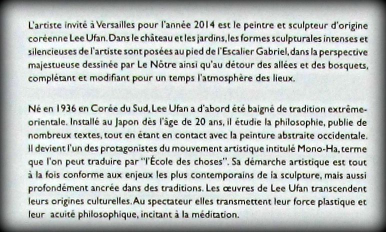 Lee Ufan Versailles, Dialogue X
