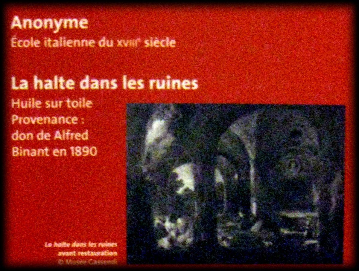 La halte dans les ruines, musée Pierre Gassendi
