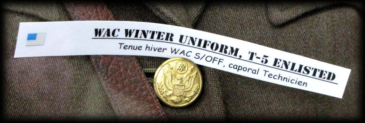 Tenue d'hiver de S/Off WAC, musée Airborne