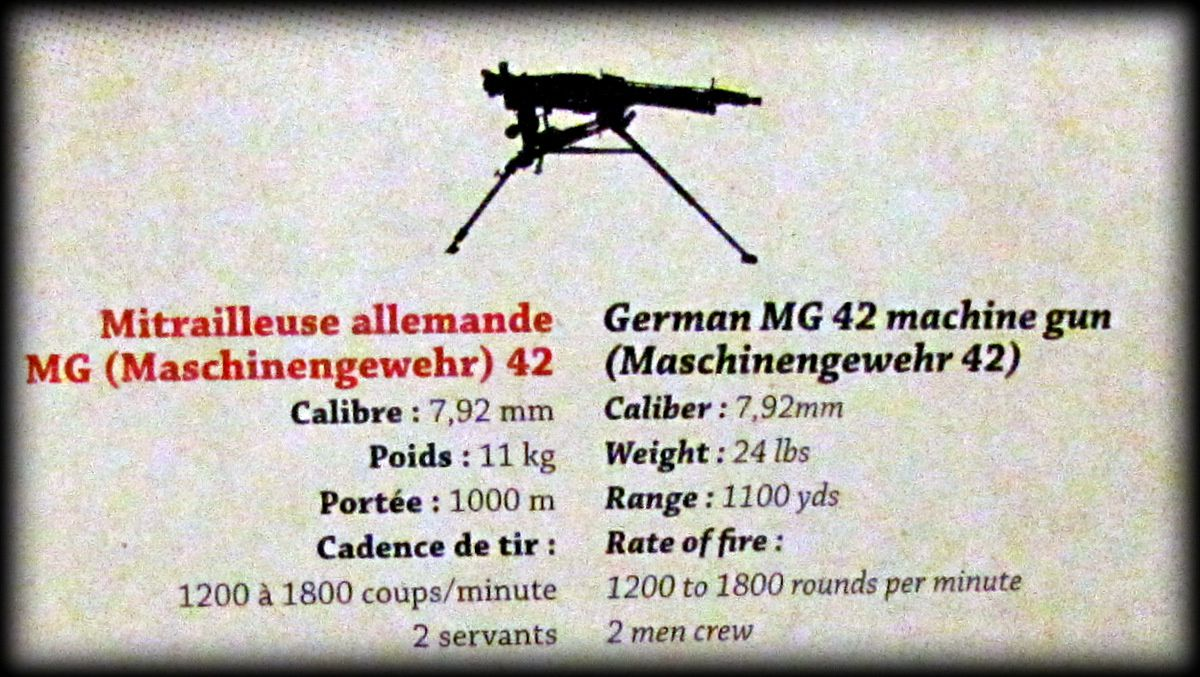 Mitrailleuse MG 42, musée Airborne