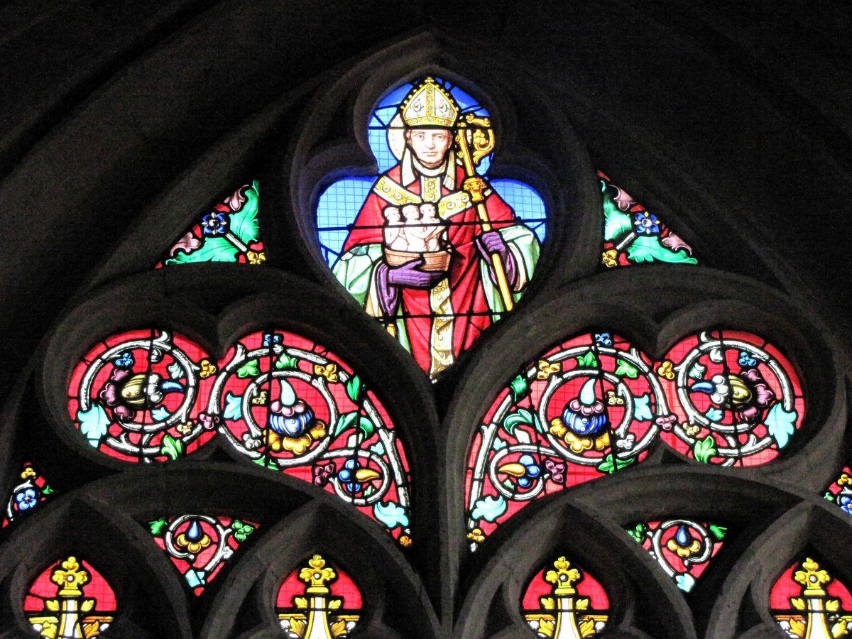 Vitrail Saint Nicolas, église Saint Jacques du Tréport