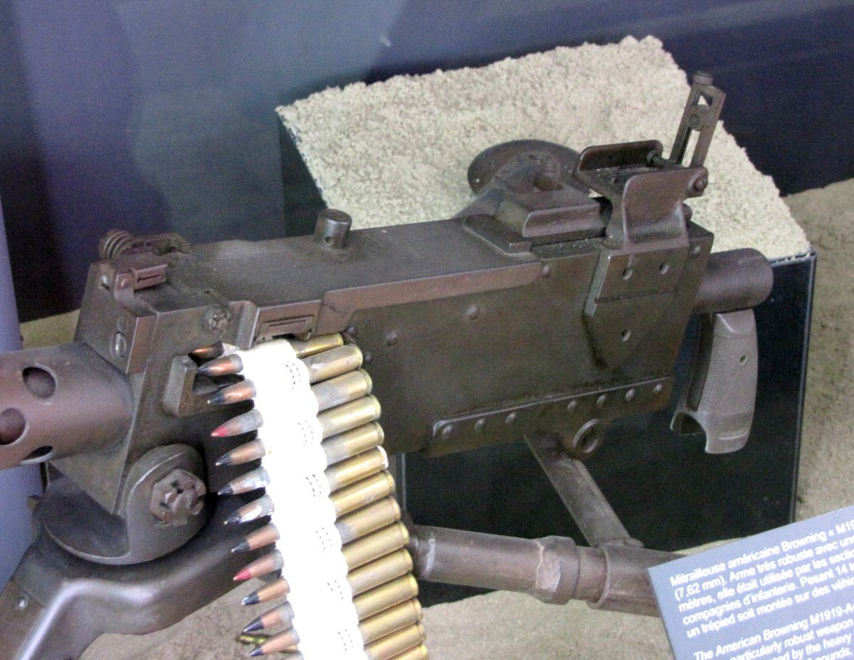 Mitrailleuse Browning M1919-A4, musée Utah Beach