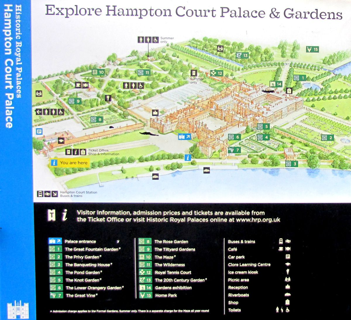 Le grand parc, Hampton Court Palace