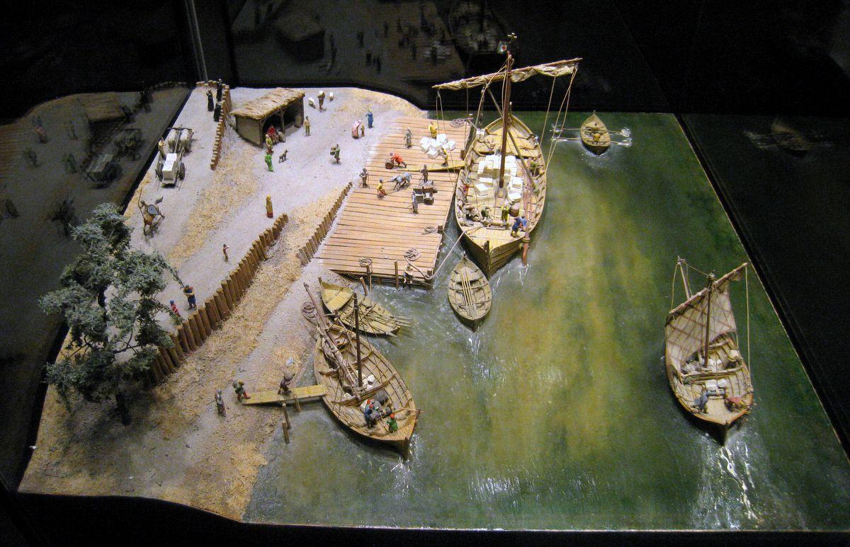 Transport de la pierre, musée de la Tapisserie de Bayeux