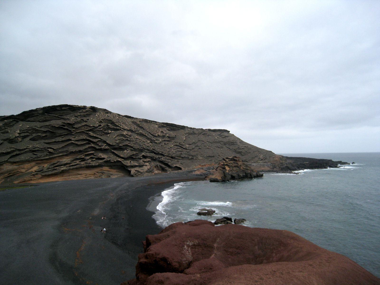 La lagune verte, île de Lanzarote (Canaries)