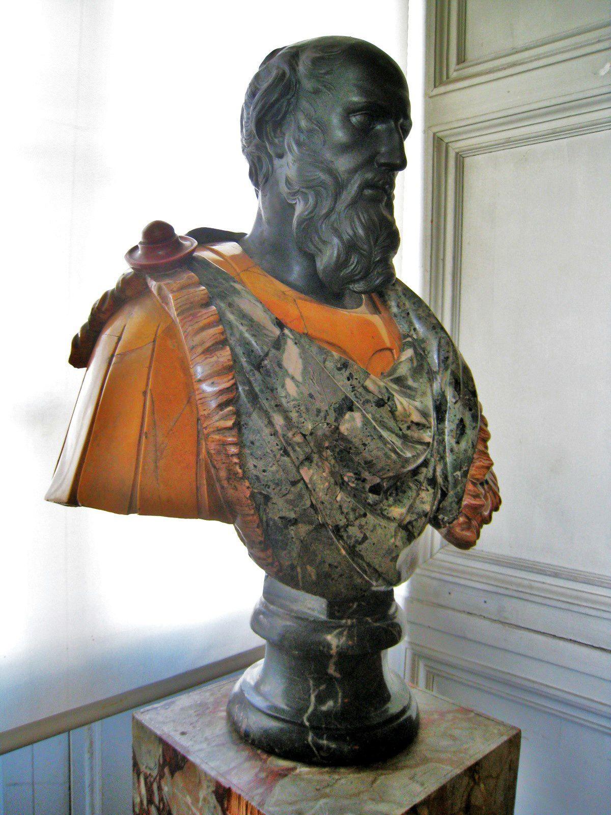 Buste de René de Longueil et de Minerve, Chambre du Roi du château de Maisons-Laffitte,