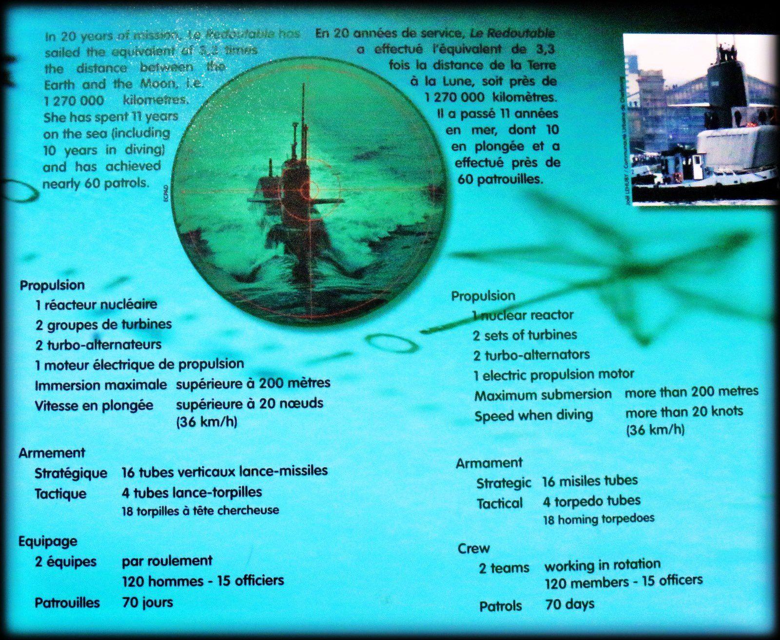Le SNLE &quot&#x3B;Le Redoutable&quot&#x3B;, Cité de la Mer à Cherbourg