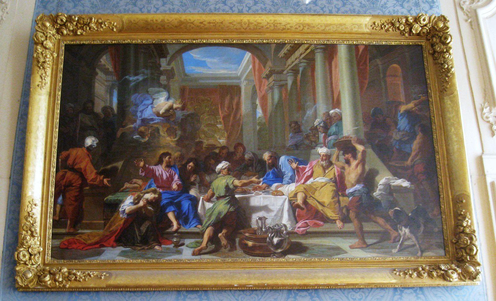 Le repas chez Simon, tableau de Jean-Baptiste Jouvenet