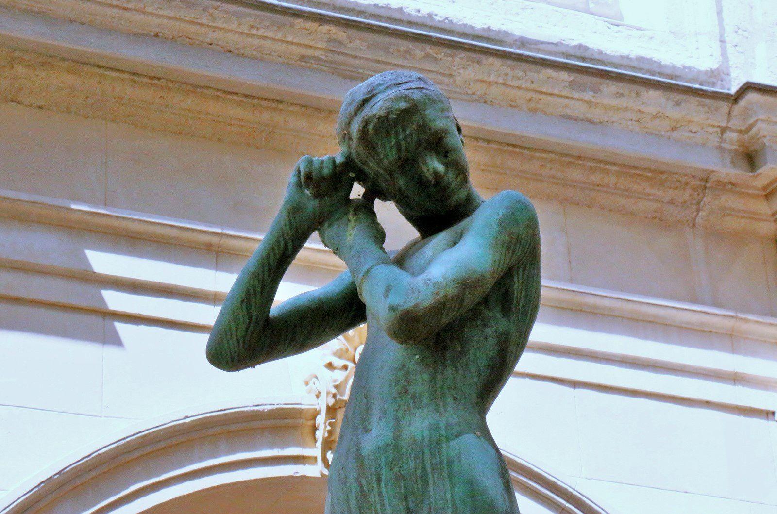 Jeune athlète, bronze de Jean-Baptiste Larrivé, musée des beaux-arts de Lyon