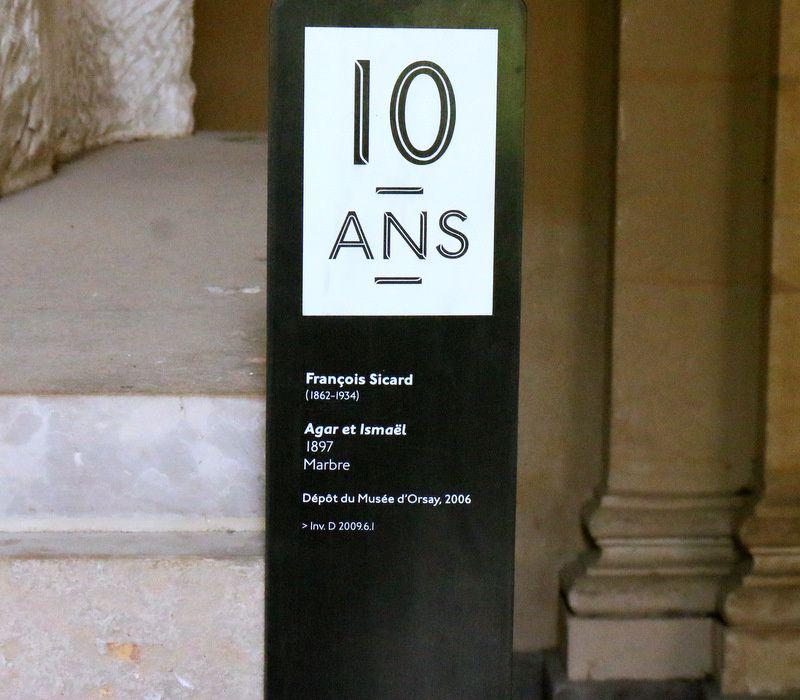 Agar et Ismaël, groupe sculpté de François Sicard