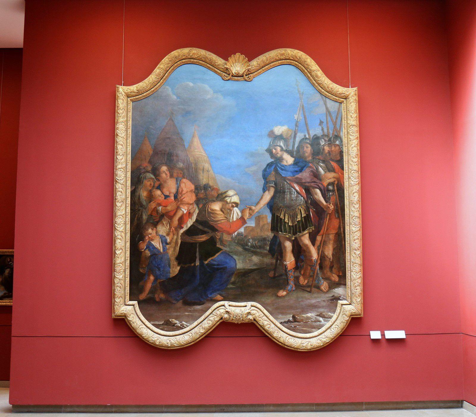 Coriolan supplié par sa mère, tableau de Le Guerchin
