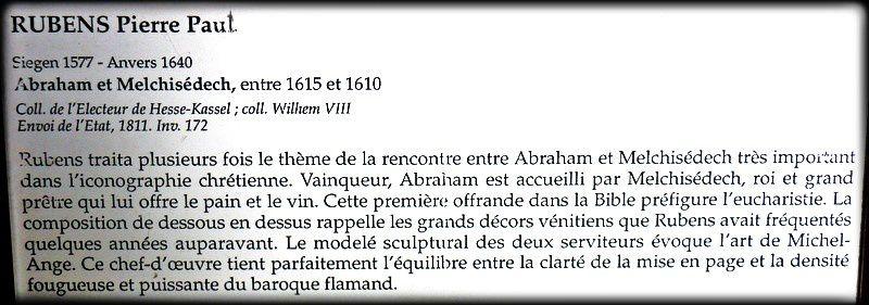 Abraham et Melchisedech, tableau de Pierre Paul Rubens
