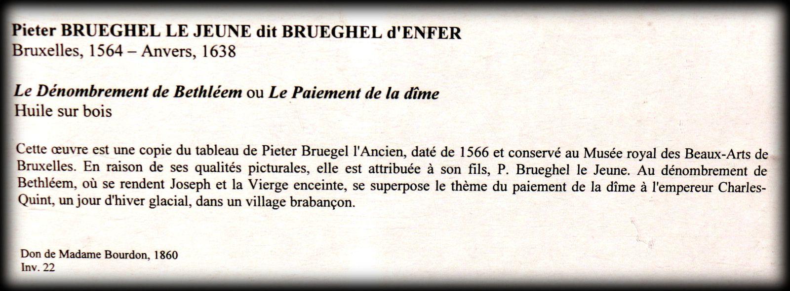 Le dénombrement de Bethléem, huile sur bois de Pieter Brueghel Le Jeune