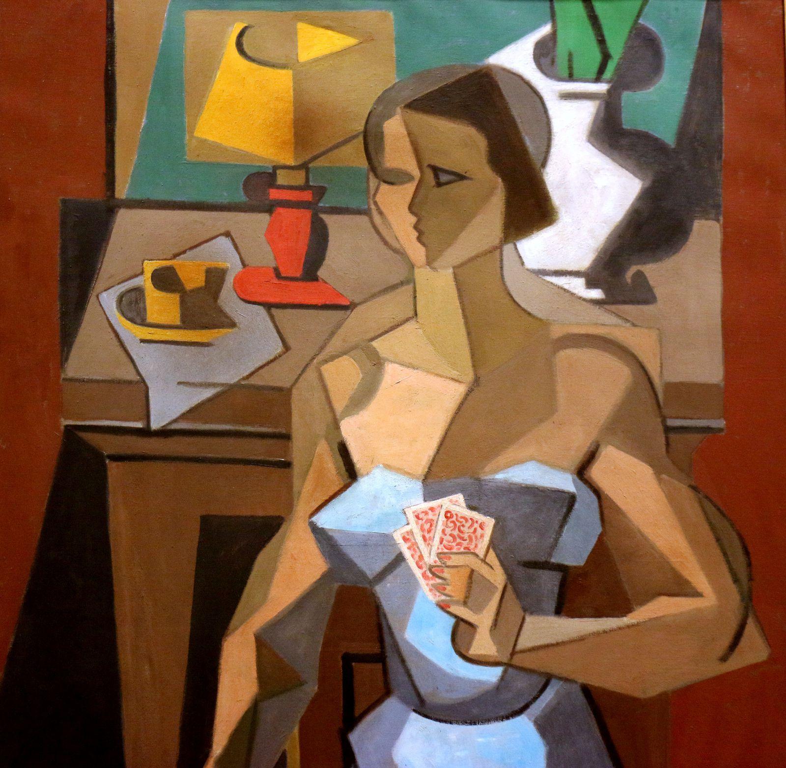 La Tireuse de cartes, huile sur toile de Jean Metzinger