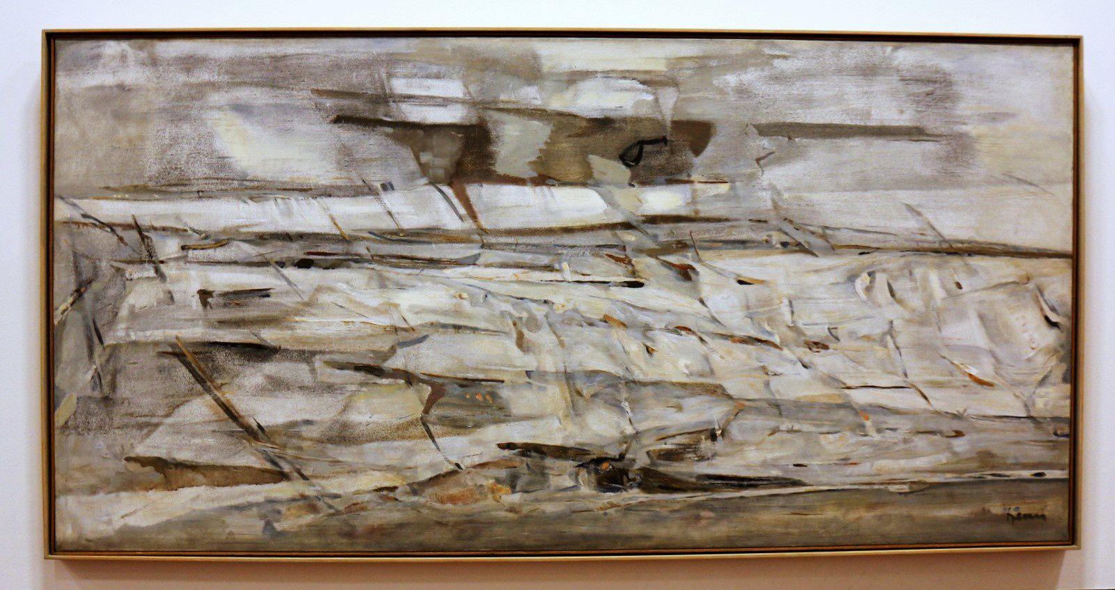 Le Fleuve Amour, huile sur toile d'Arpad Szènes