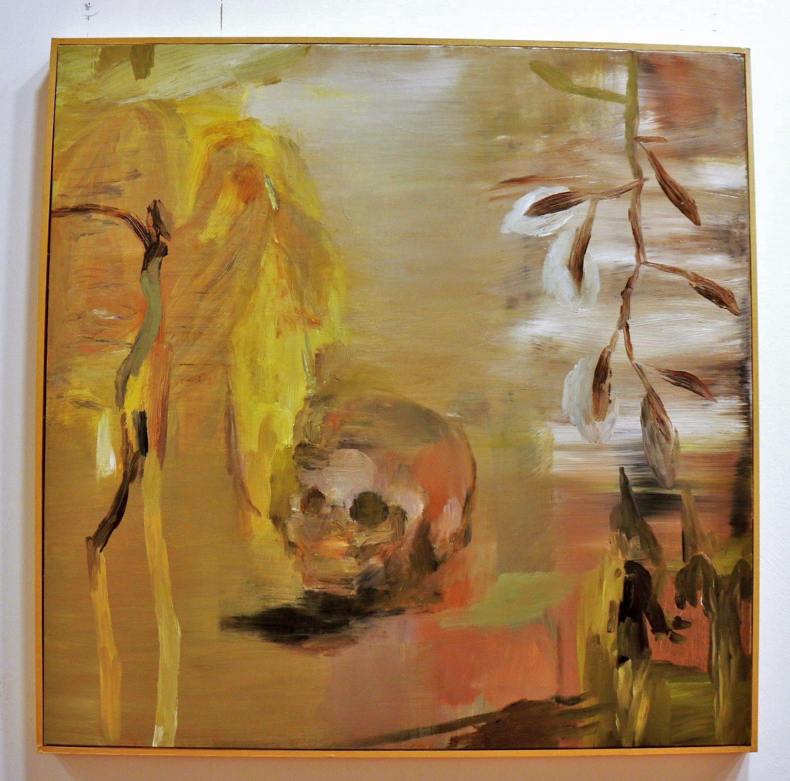Vanité aux jardins calcinés, huile sur toile de Philippe Borderieux