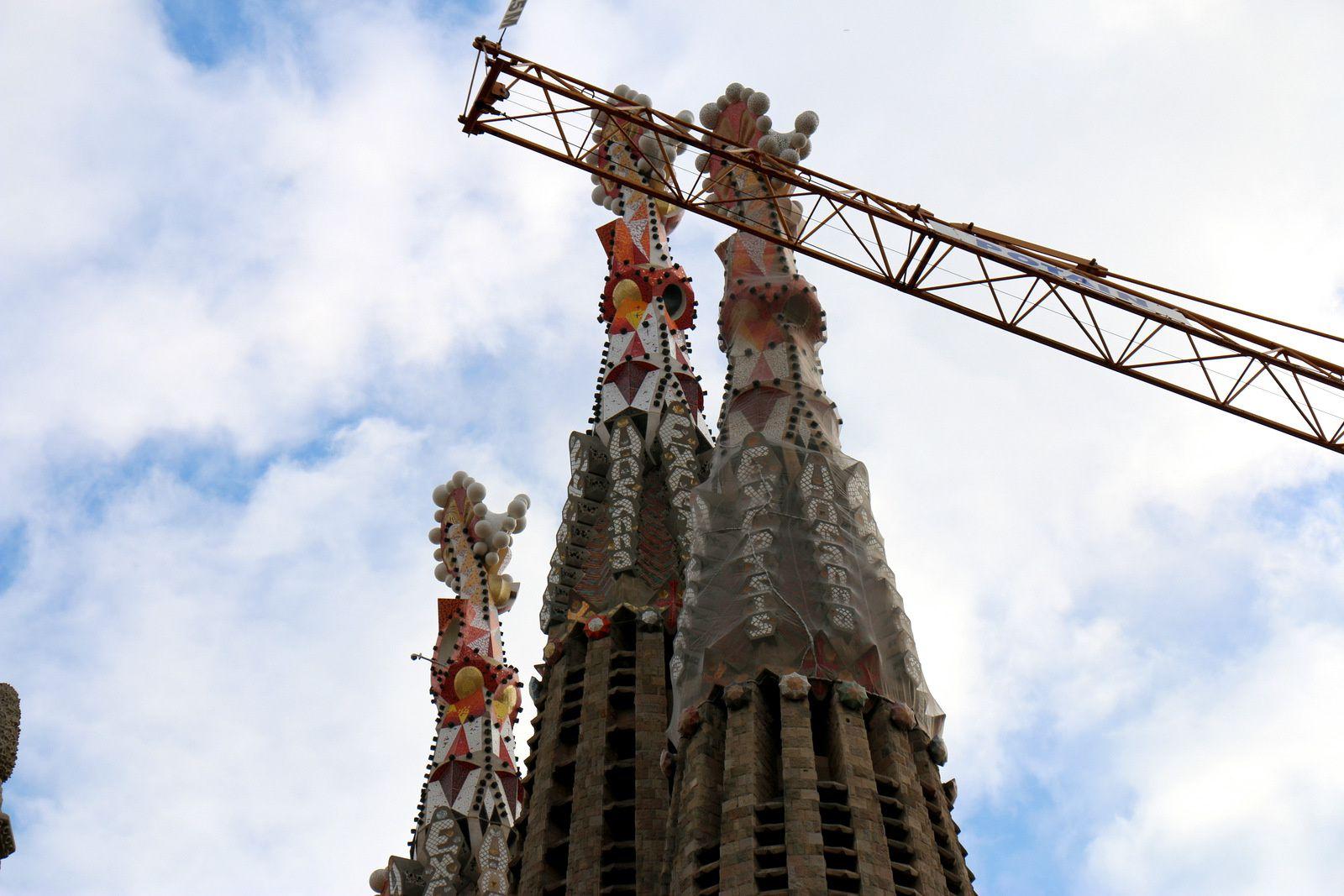 Sagrada Familia, les tours de la façade de la Passion