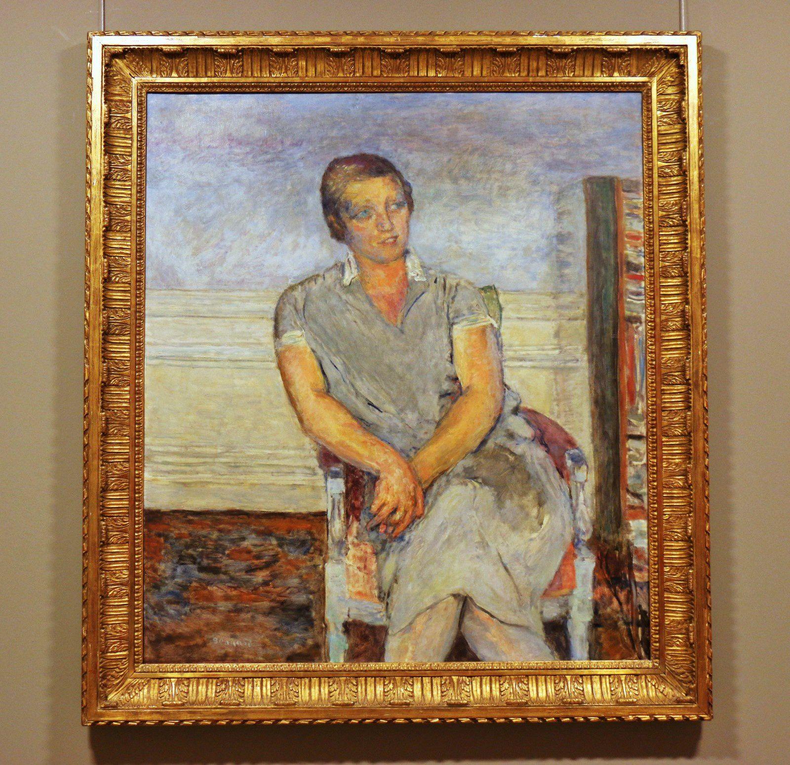 Portrait de Mme Henri-Jean Arthur Fontaine née Maximilienne Curtis, huile sur toile de Pierre Bonnard