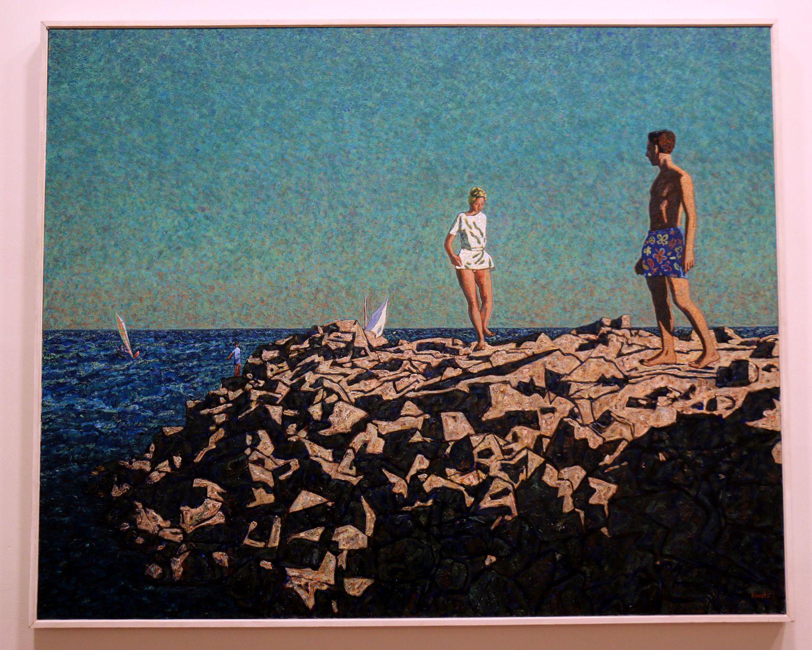 Le débarquement à Cythère, huile sur toile de Vincent Bioulès