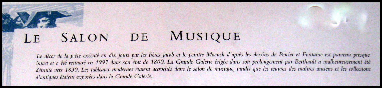 Bustes d'empereurs romains, salon de musique du château de Malmaison