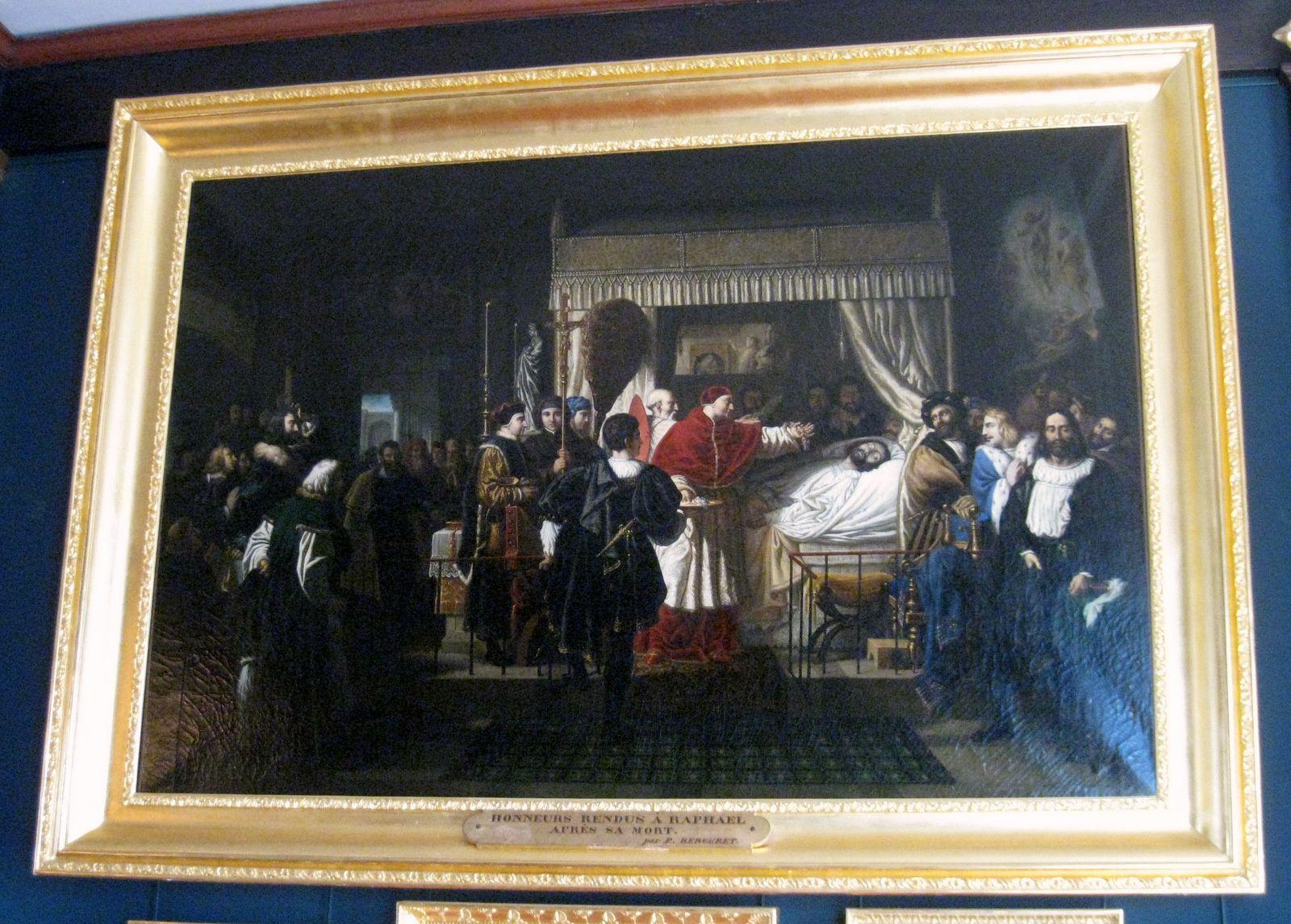 Pierre-Nolasque Bergeret, Honneurs rendus à Raphaël après sa mort