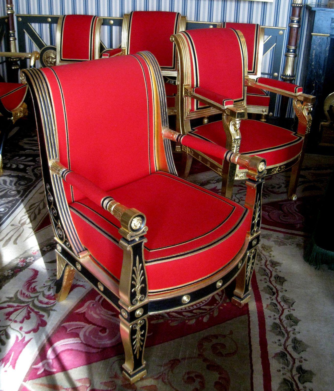Salle du Conseil du château de Malmaison, mobilier
