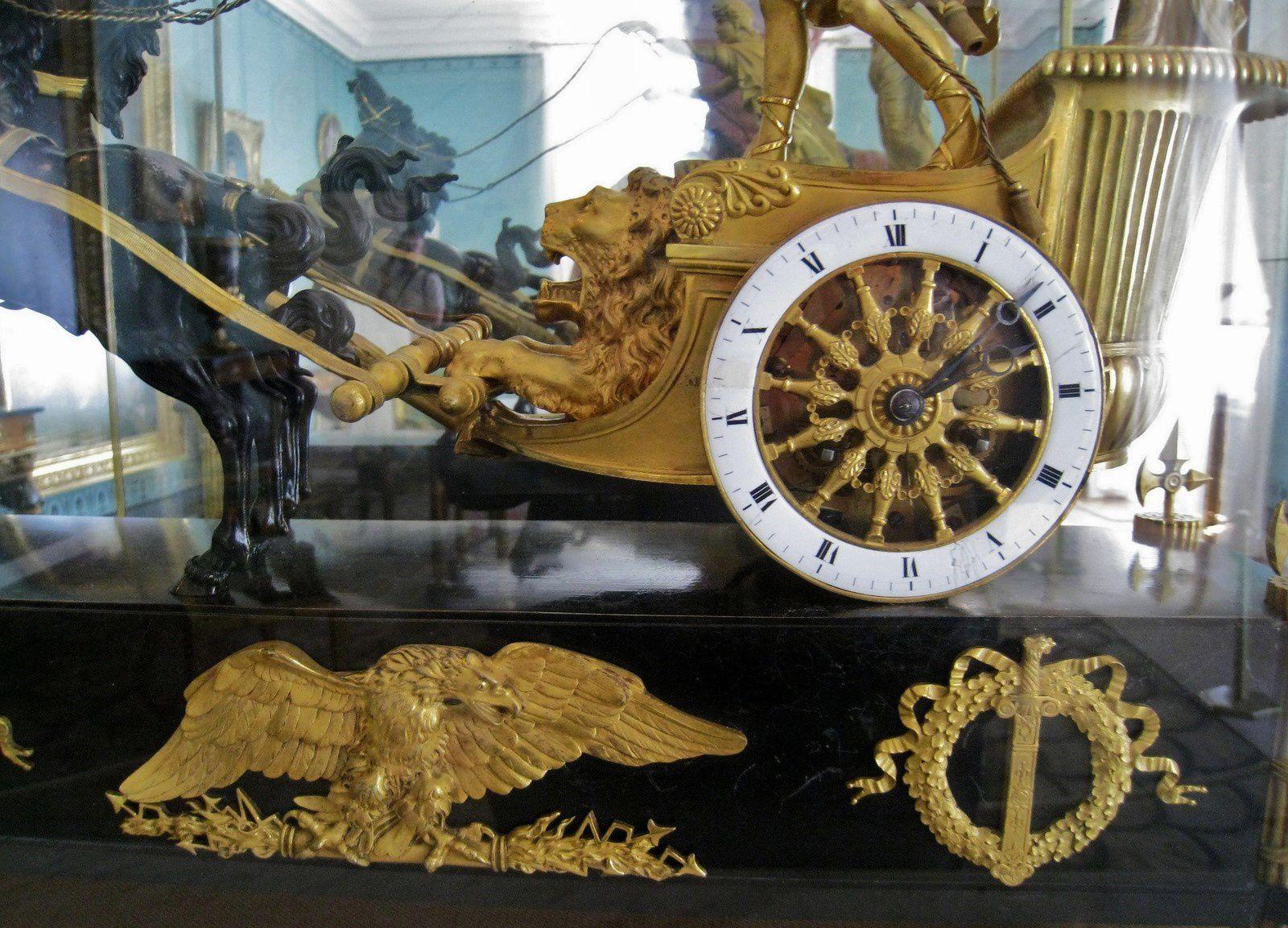 Pendule &quot&#x3B;Le char de Télémaque&quot&#x3B;, château de Malmaison