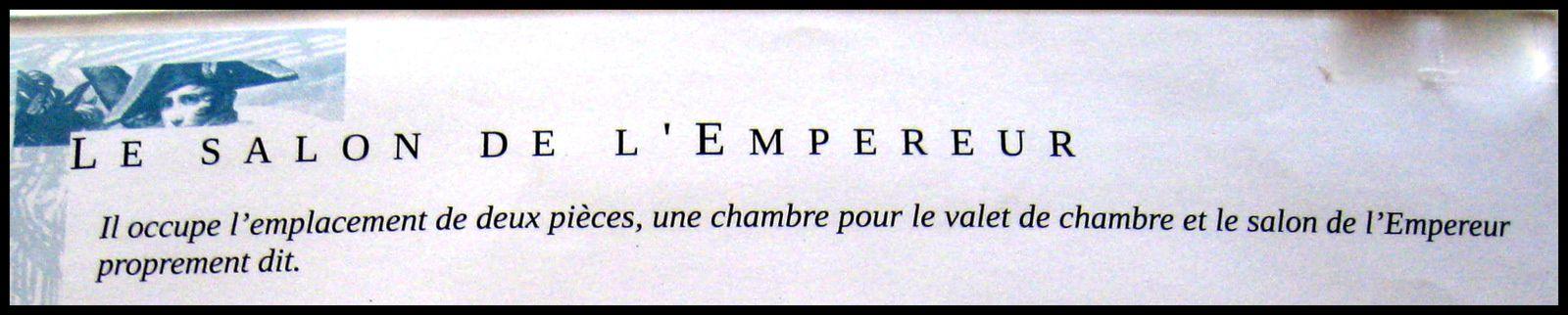 Mobilier du Salon de l'Empereur, château de Malmaison