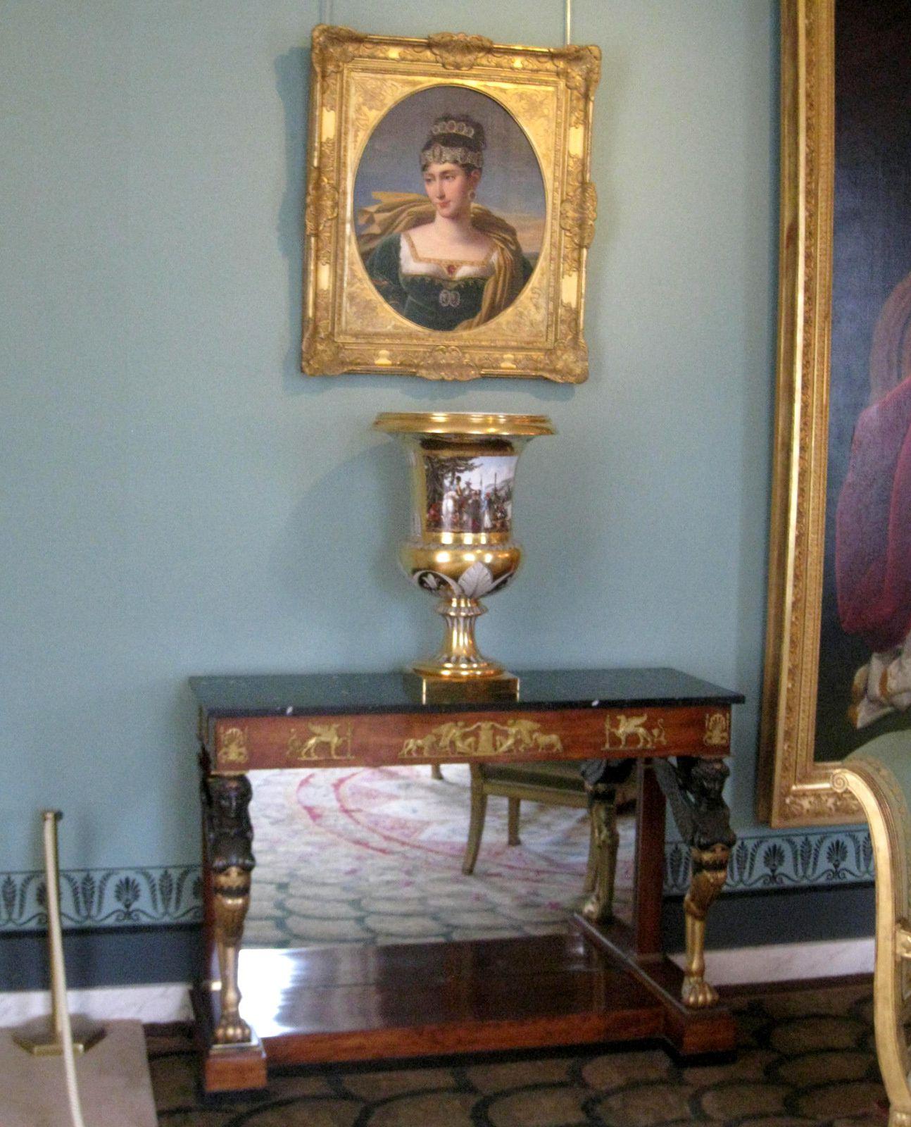 Tableaux du Salon de l'Empereur (2/2), château de Malmaison