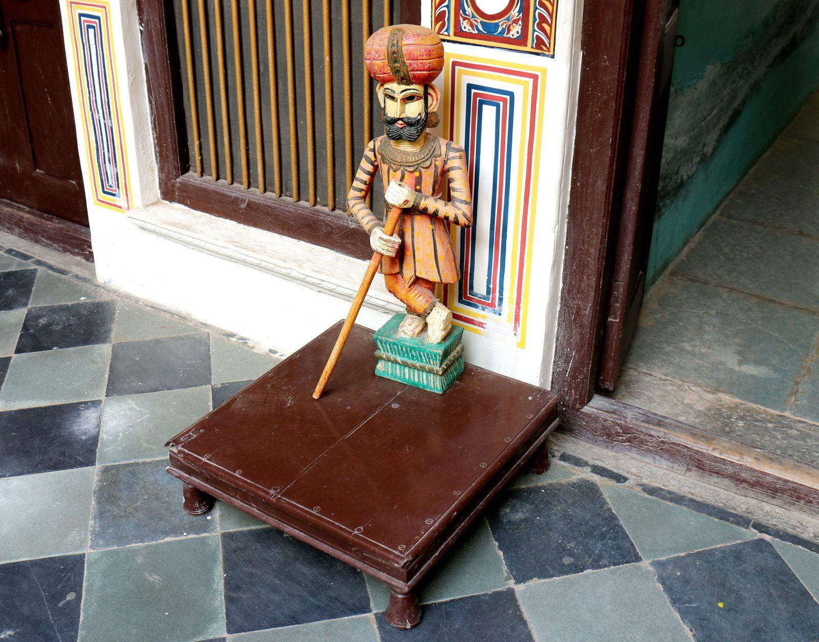 Hôtel &quot&#x3B;Heritage&quot&#x3B; à Mandawa (Rajasthan, Inde), décoration intérieure