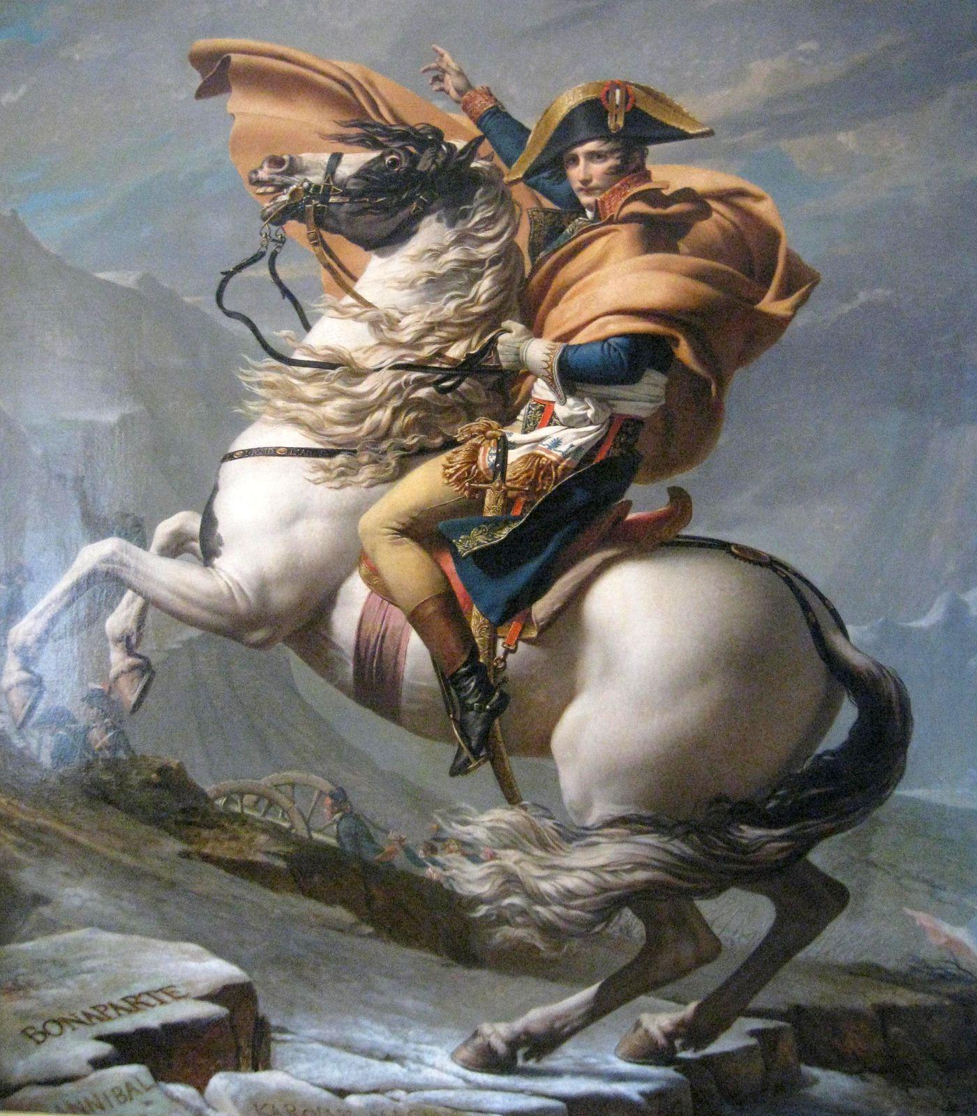 Jacques-Louis David, Le Premier Consul franchissant les Alpes ...
