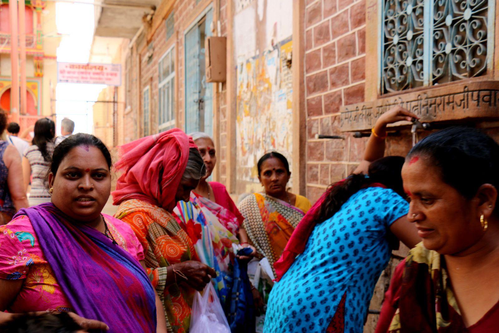 Sur la route entre Bikaner et Jaisalmer, Rajasthan (Inde)