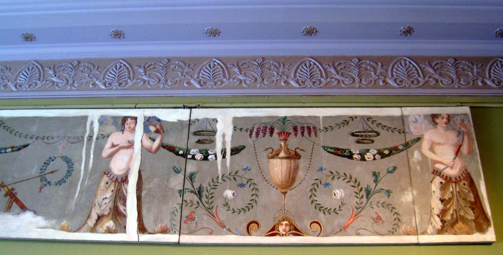 Frise de la chambre de Bonaparte et Joséphine à Malmaison par Florimond Métereau