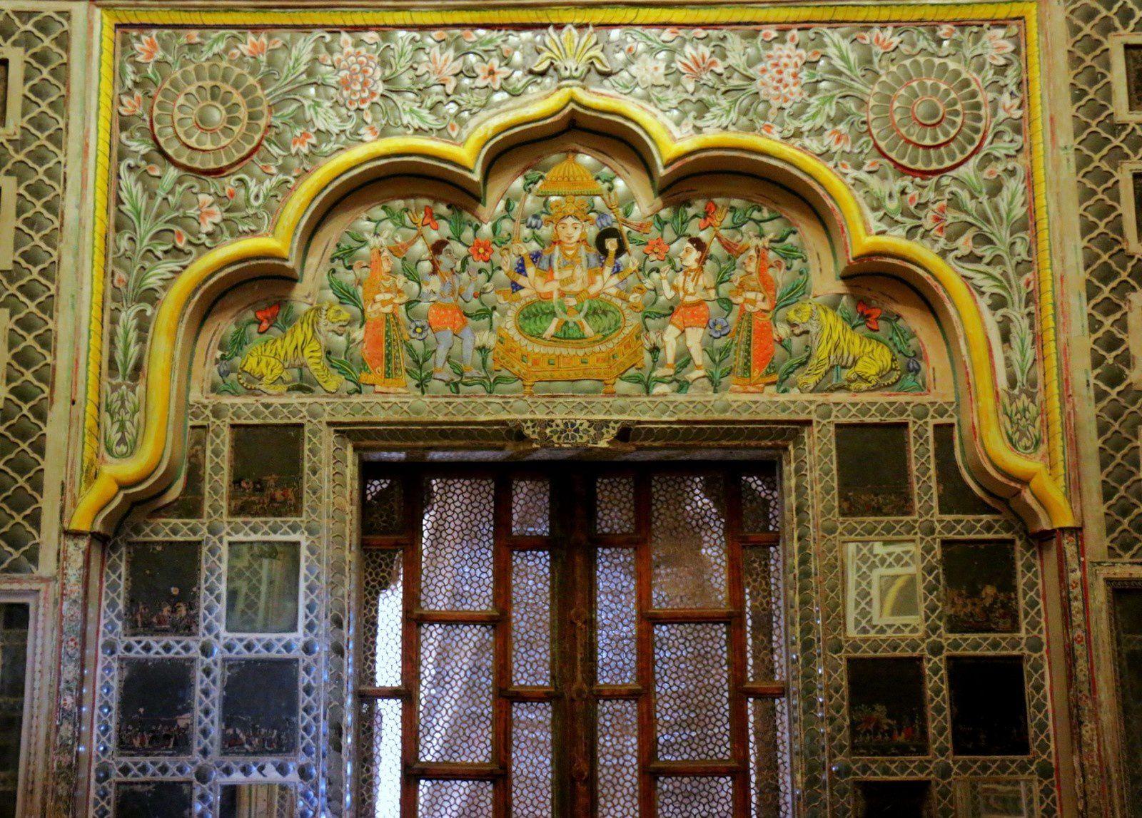 Salle des miroirs et Salon, musée de Mehrangarh (Jodhpur, Inde)