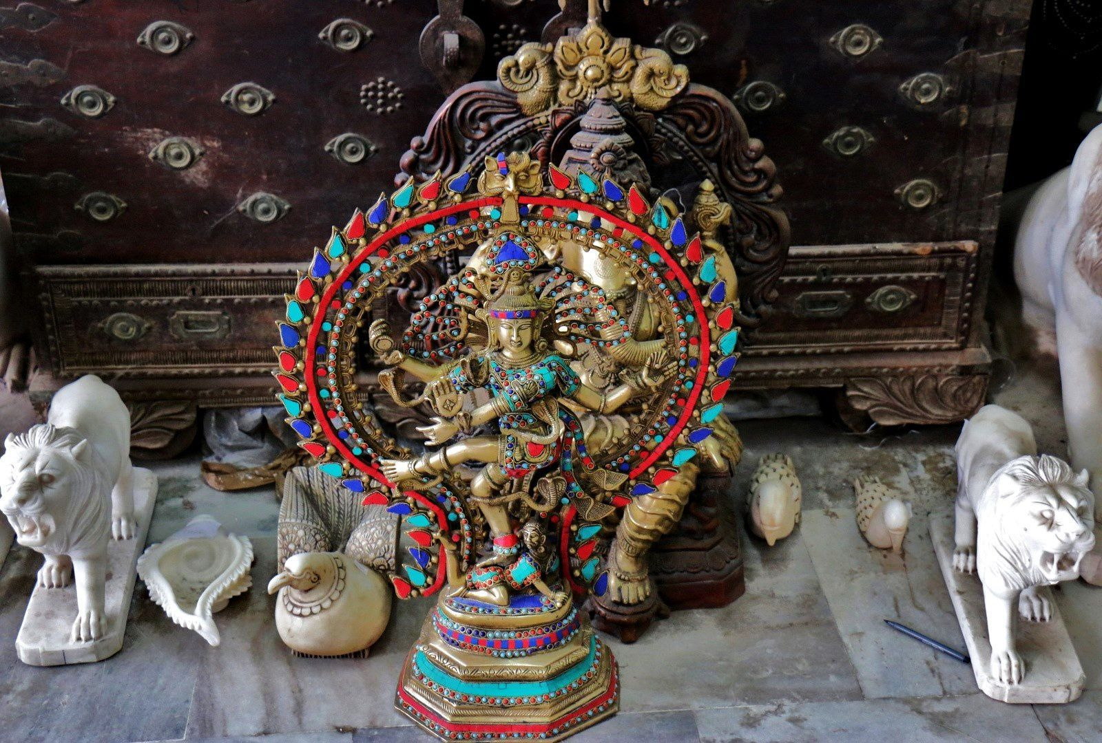 Maharani Textile (sculptures et objets divers, 1/2), Jodhpur (Inde)