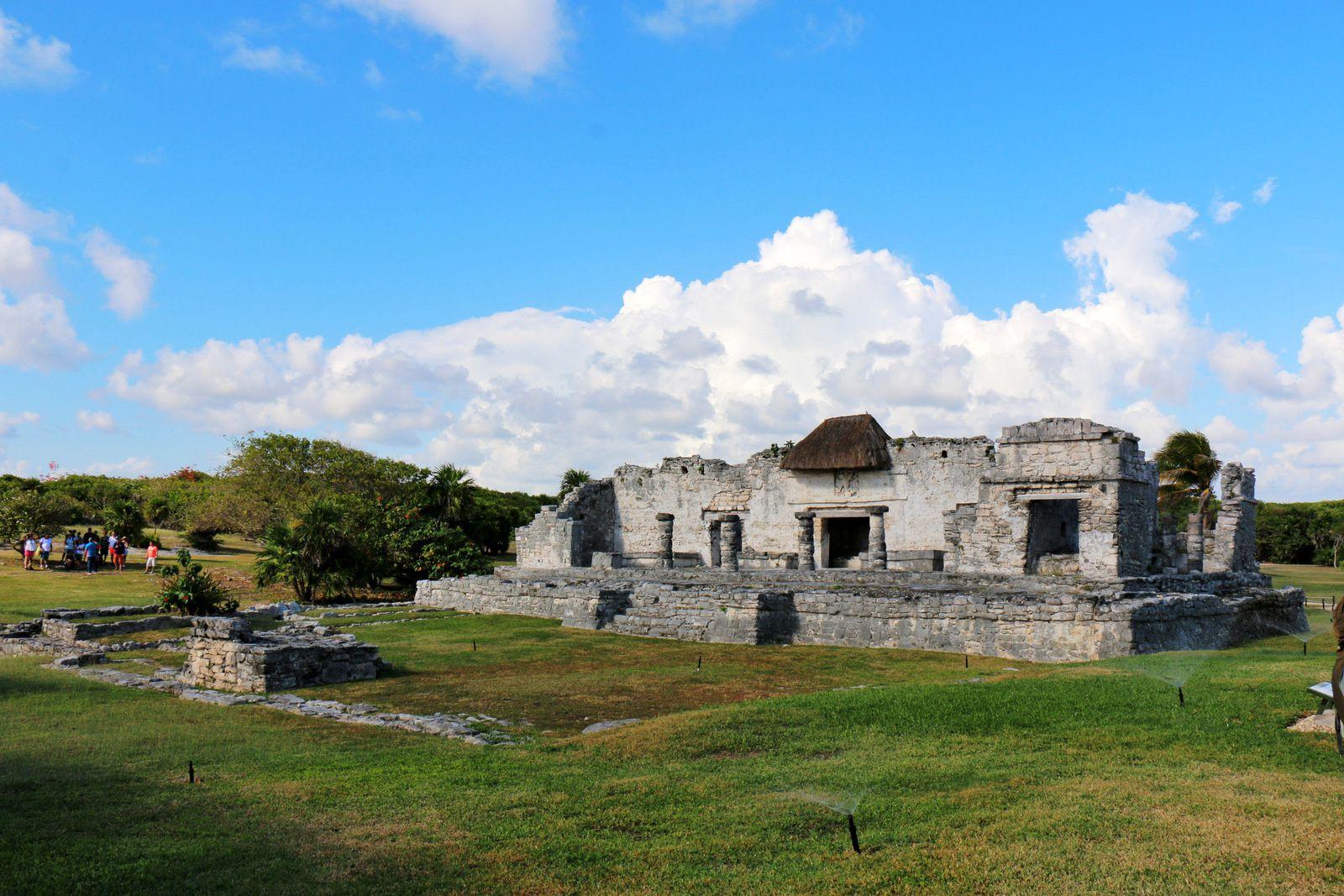 Maison du Halach Uinic, site archéologique de Tulum (Mexique)
