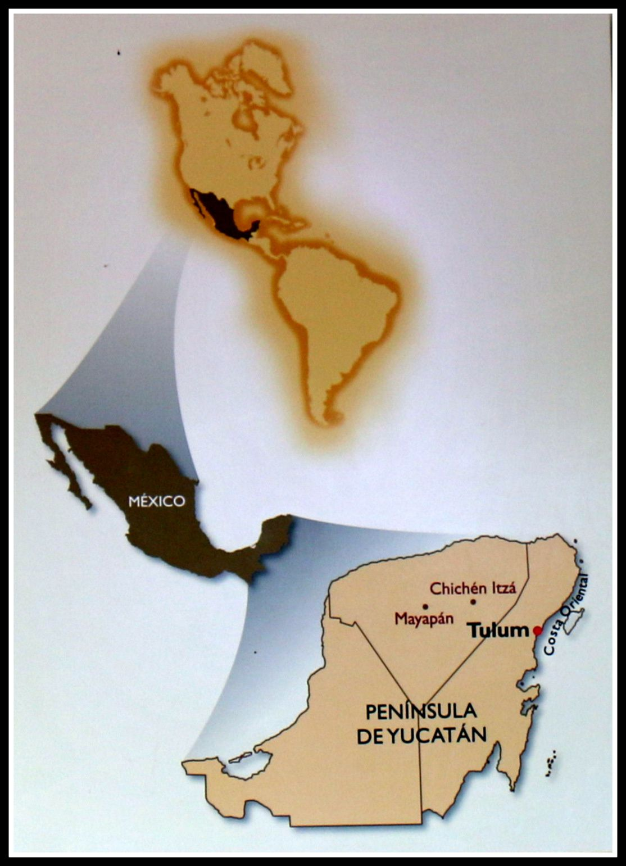 Temple des fresques, site archéologique de Tulum (Mexique)